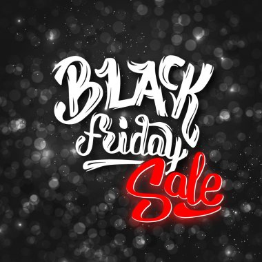 Black Friday sale background with bokeh