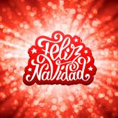 Photo Feliz navidad lettering. Merry Christmas greetings