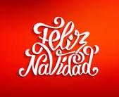 Photo Feliz navidad lettering. Merry Christmas greetings
