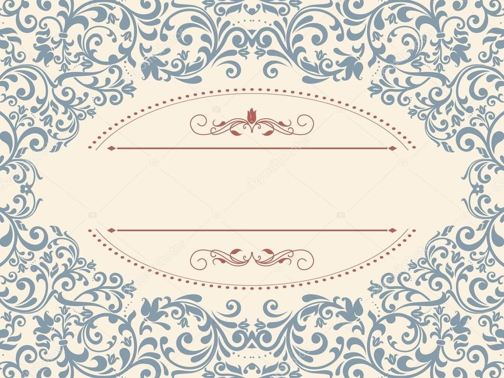 Vintage template with pattern and ornate borders. Ornamental lace ...
