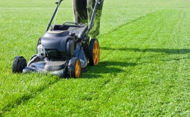 Lawn mower mower, grass, equipment, mowing, gardener, care, work, tool, stock vector