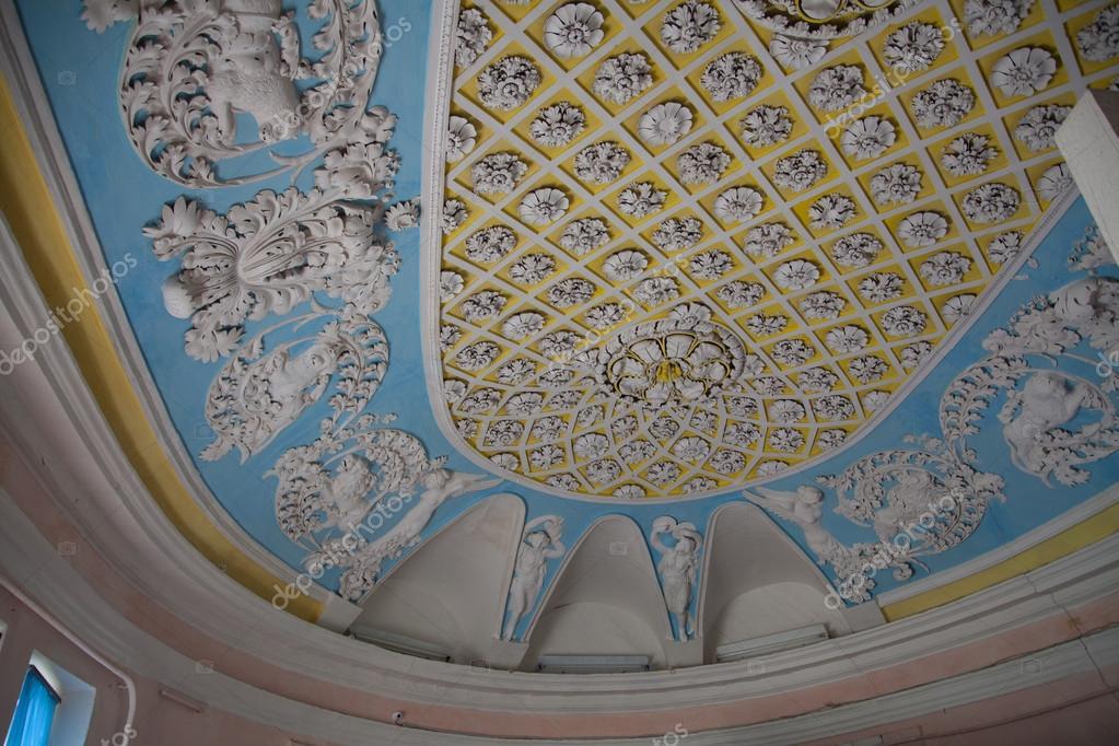 Plâtre De Moulage Fleurs Et Silhouettes Sur Plafond U2014 Image De ...
