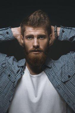 Brutal bearded man