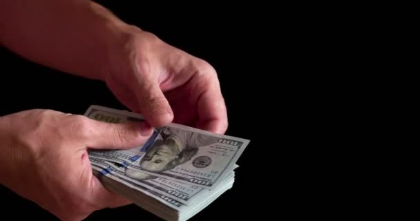 hands quickly counting money