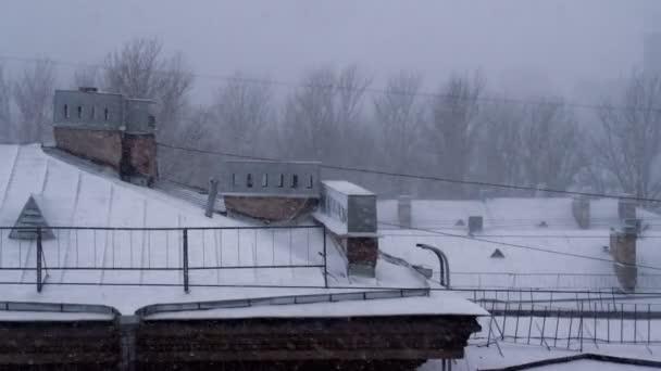 Sníh ve starém městě Evropské