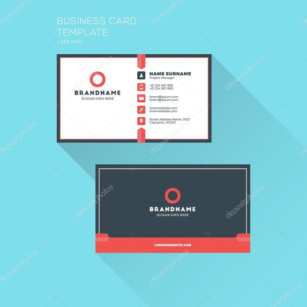 Firmen Visitenkarten Druckvorlage Persönliche Visitenkarte