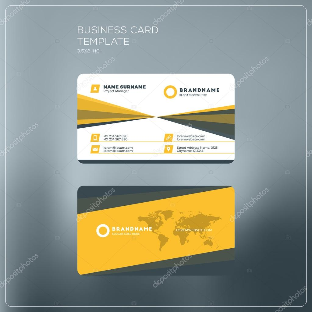 Corporate business card print template personal visiting card with corporate business card print template personal visiting card with company logo black and yellow reheart Image collections
