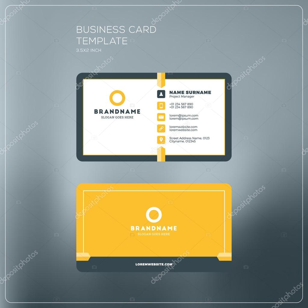 Corporate business card print template personal visiting card with corporate business card print template personal visiting card with company logo black and yellow reheart