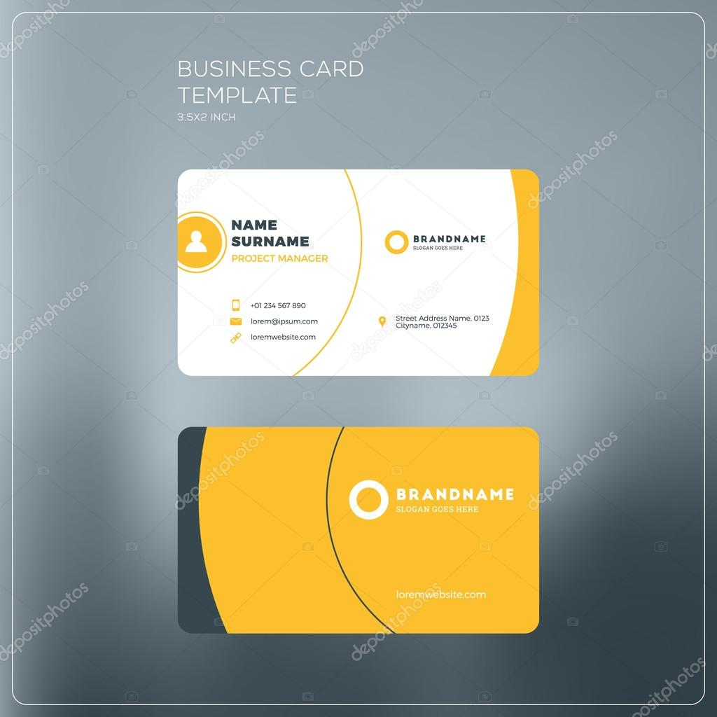 Corporate business card print template personal visiting card with corporate business card print template personal visiting card with company logo black and yellow reheart Gallery