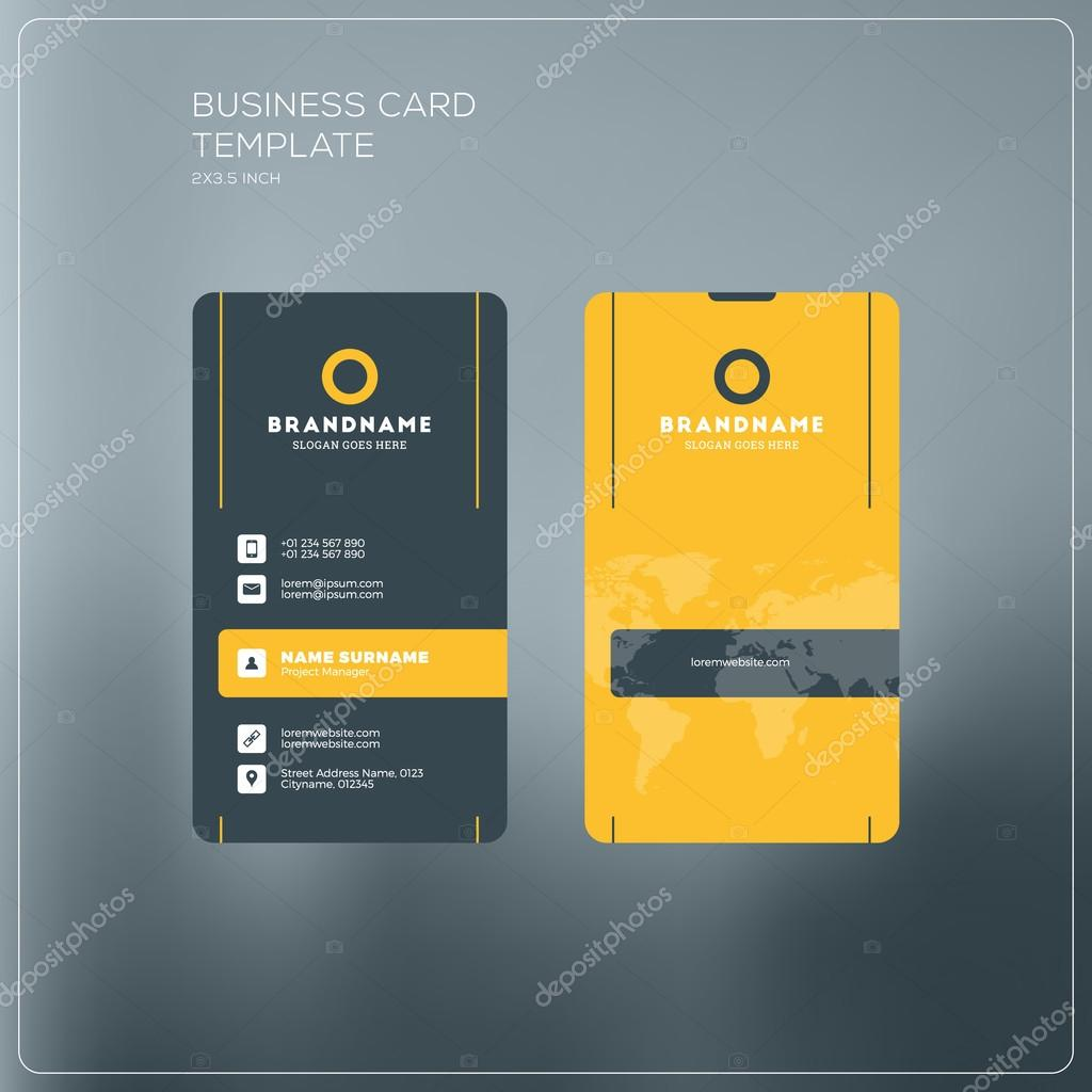 Vertical business card print template personal business card with vertical business card print template personal business card with company logo black and yellow cheaphphosting Gallery