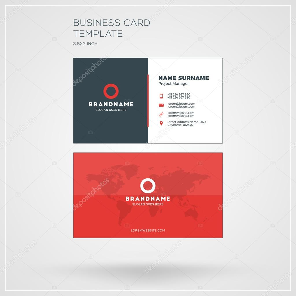 business card print template personal visiting card with company logo clean flat design - Business Card Printing Company