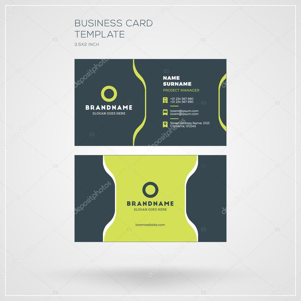 Business Card Vector Template Personal Visiting Card With Company