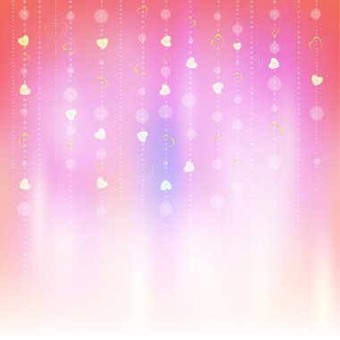 Valentines Day Abstract Background. Romantic Vector Illustration for Greeting Cards Design. Happy Valentines Day