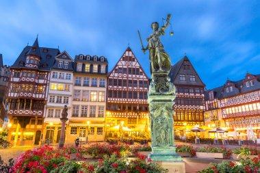 Frankfurt old town at sunset