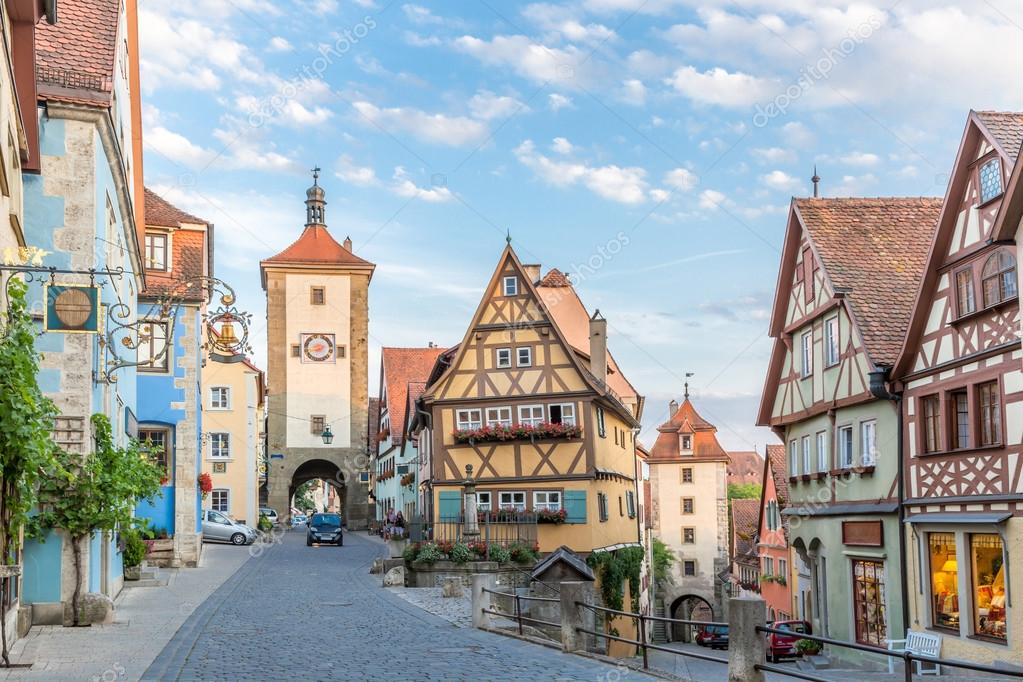 rothenburg ob der tauber city in germany stock photo vichie81 116304924. Black Bedroom Furniture Sets. Home Design Ideas
