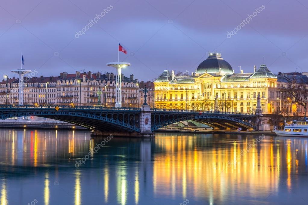 Ponte di universit di lione in francia foto stock for Piani di progettazione di ponti gratuiti
