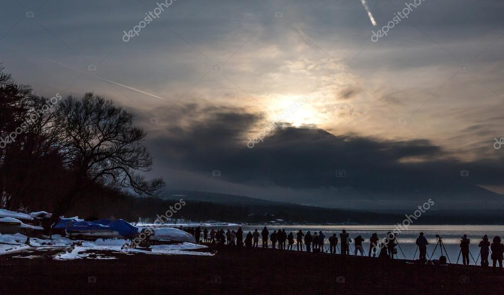 Mountain Fuji with Lake Yamanaka