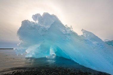Iceberg beach at Jokulsarlon in Iceland