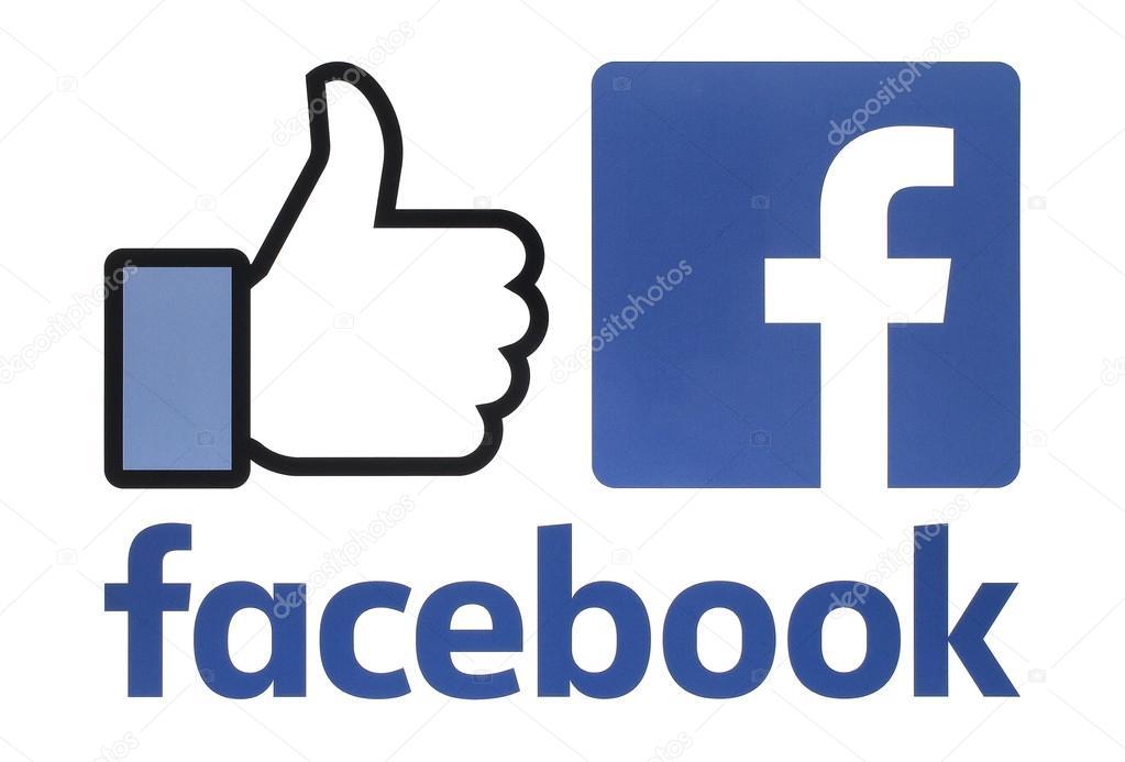colecci243n de un nuevo logos facebook impreso sobre papel