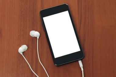 Smart phone with headphones