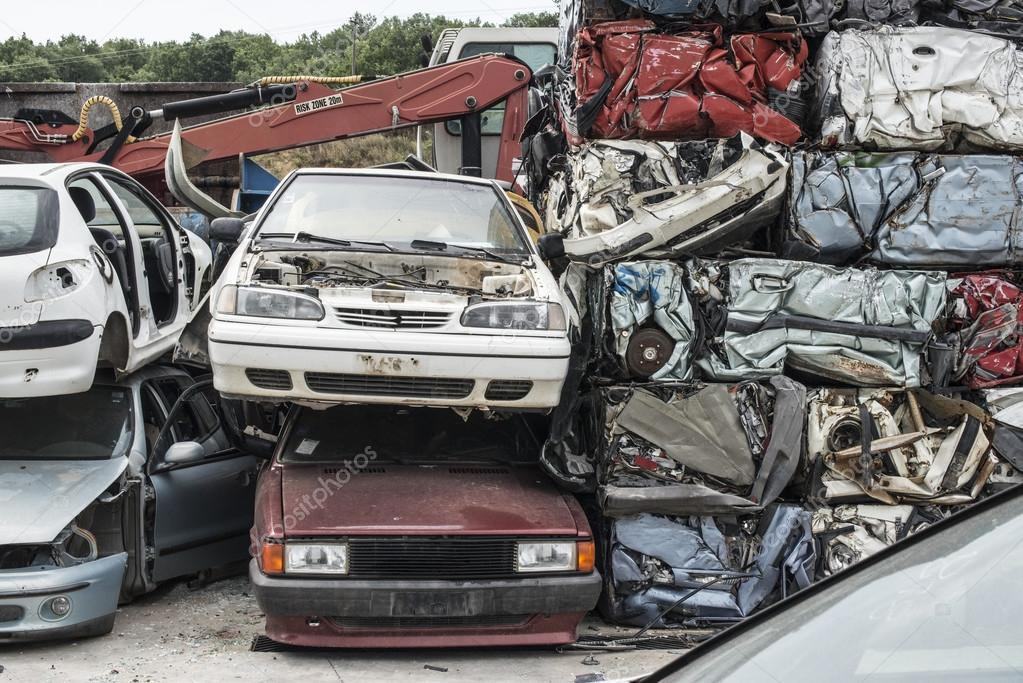 Baled scrap cars — Stock Photo © deyangeorgiev2 #115924418