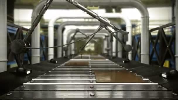 Animované abstraktní technologické průmyslové transportní pozadí s místem pro logo