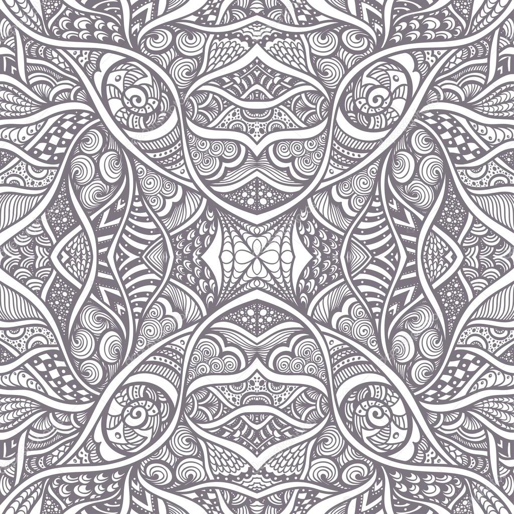 Zusammenfassung Hintergrund mit nahtlosen Zen-Doodle Muster schwarz ...