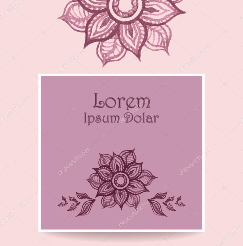 Modele Avec Fleurs Abstraites De L Eau Couleur De Rose Lilas Image