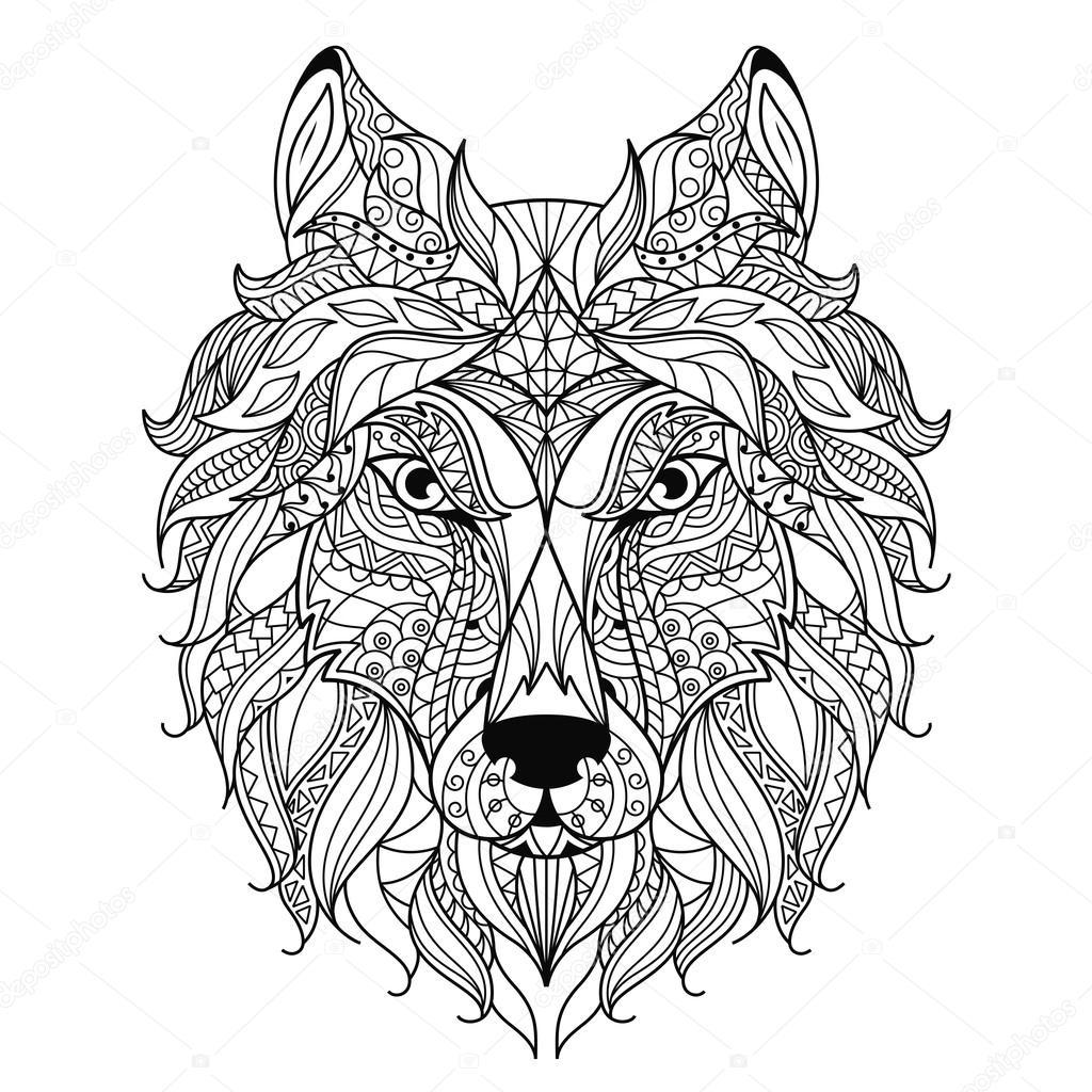 Wolven Kleurplaat Voor Volwassenen Kleurplaten Voor Volwassenen Wolf Kidkleurplaat Nl