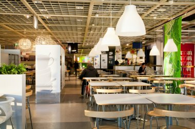 Eatery space of the giant international IKEA store