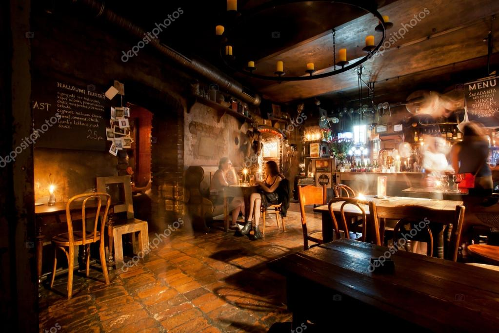 Marvelous Interior Design Of Old Polish Beer Bar U2014 Stock Photo