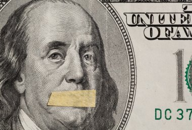 Hundred dollars USA, a symbol of instability of the economy