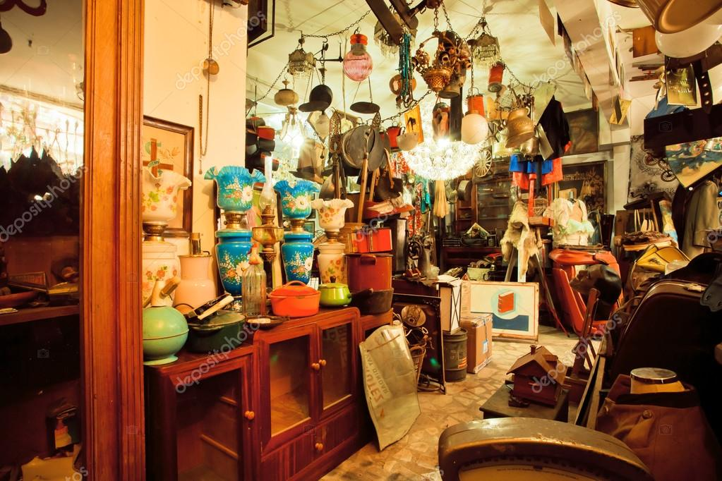 Vintage Furniture And Antiques In Popular Second Hand Store U2014 Stock Photo