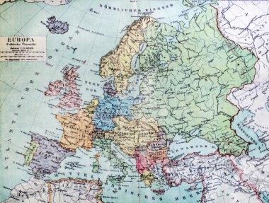 """Картина, постер, плакат, фотообои """"Историческая карта старой Европы. 1900 года."""", артикул 111322204"""