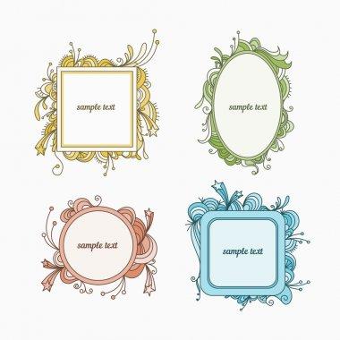 4 doodle frames