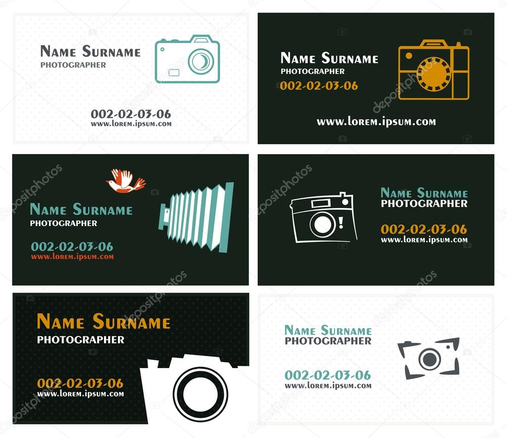 tarjetas de visita para fotógrafos — Vector de stock © nnfotograf ...