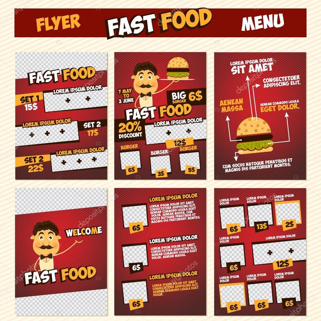 fast food menu flyer template stock vector nnfotograf 80949664