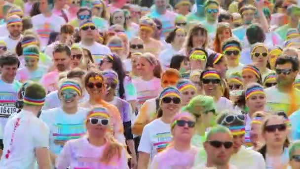 PRAGUE, CZECH REPUBLIC - MAY 30: Color run event