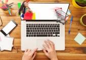 Fotografie koncept e nakupování