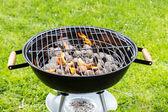 Fotografie Prázdné gril s ohněm i na zahradě