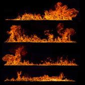 vysoké rozlišení oheň sbírku na černém pozadí