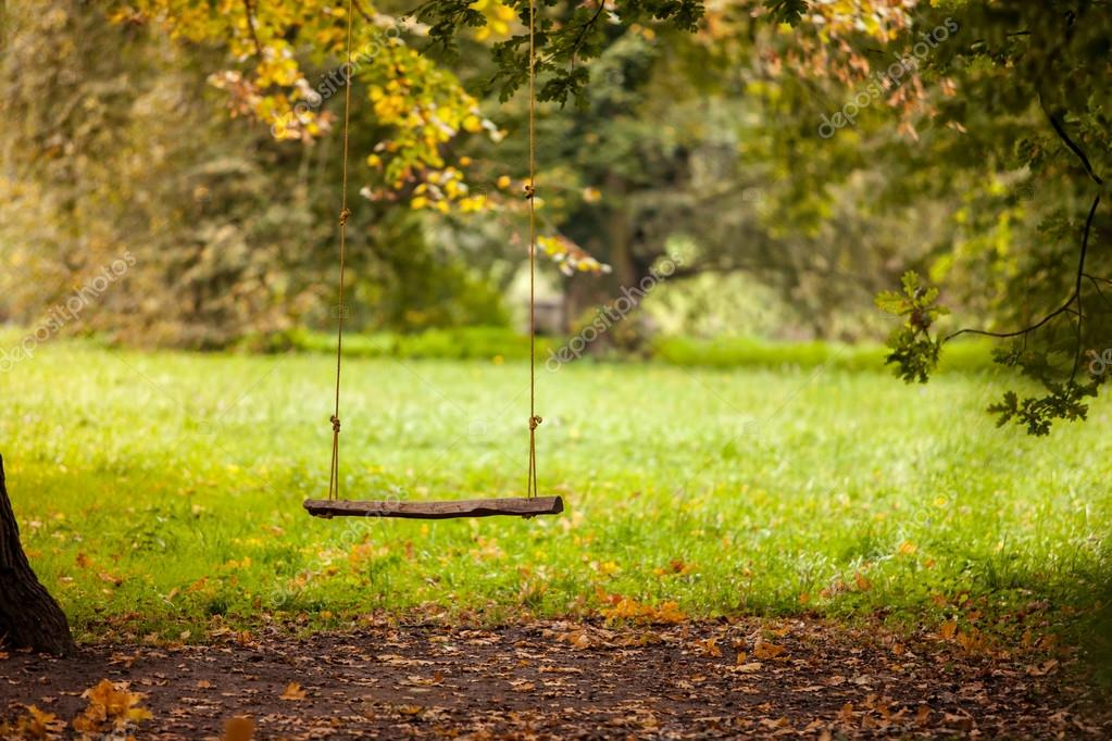 Swing in the garden
