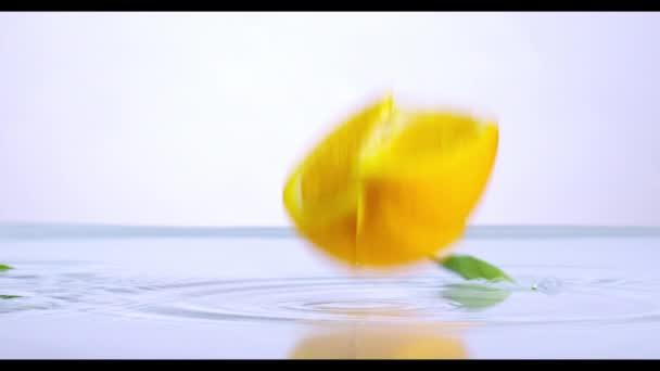 Pomeranč v pomalém pohybu