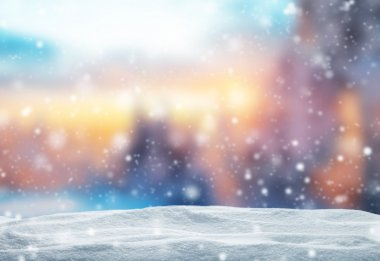 Winter abstract background with snow pile