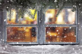 Fotografie Atmospheric Christmas window sill decoration