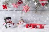 Fotografie Vánoční dekorace sněhuláci
