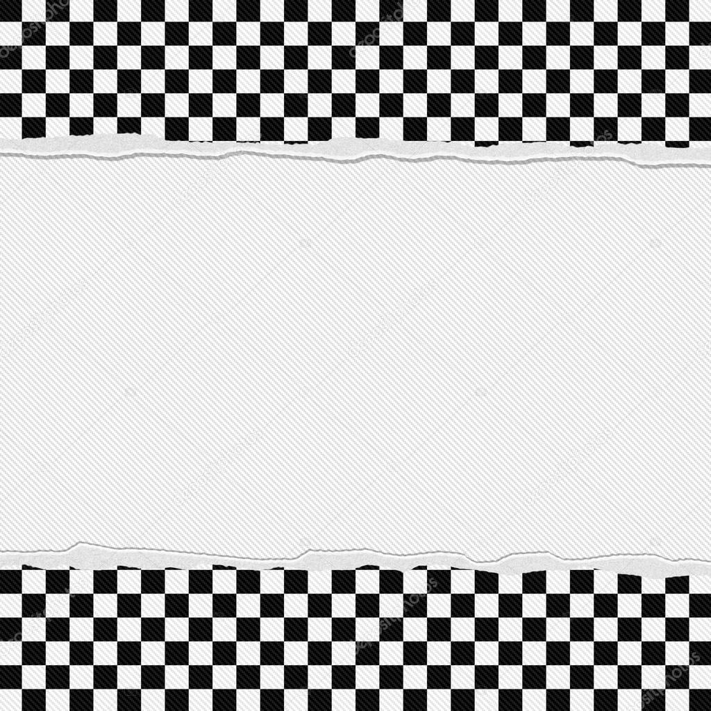 Marco a cuadros blanco y negro con el fondo rasgado foto - Cuadro blanco y negro ...
