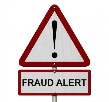 Fraud Alert Caution Sign