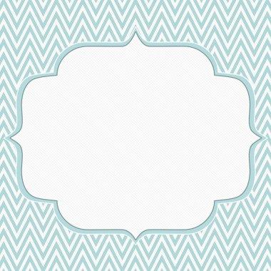 Blue and White Chevron Zigzag Frame Background