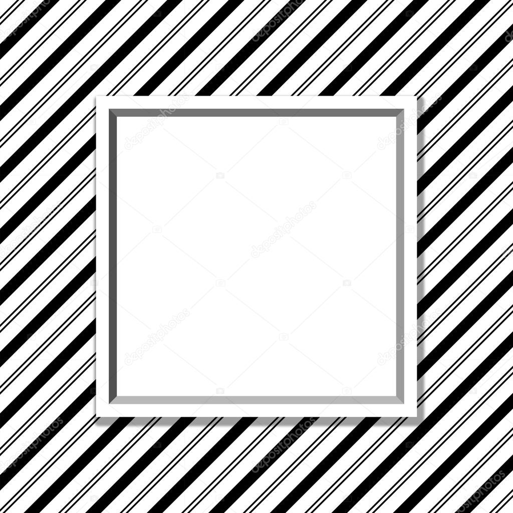 Black and White Striped Background with Frame — Stock Photo © karenr ...